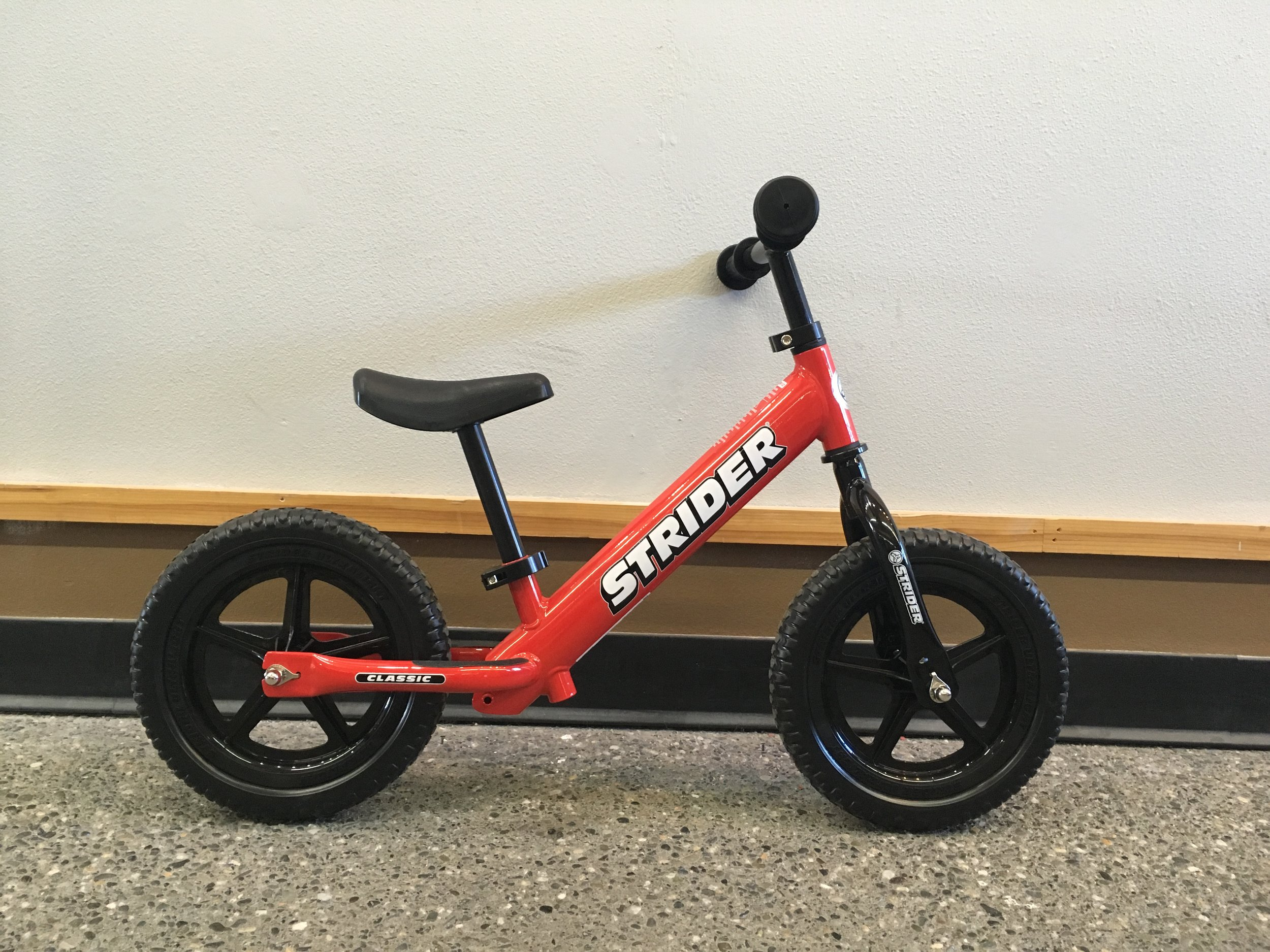 "Strider 12"" Balance Bike  - $100"