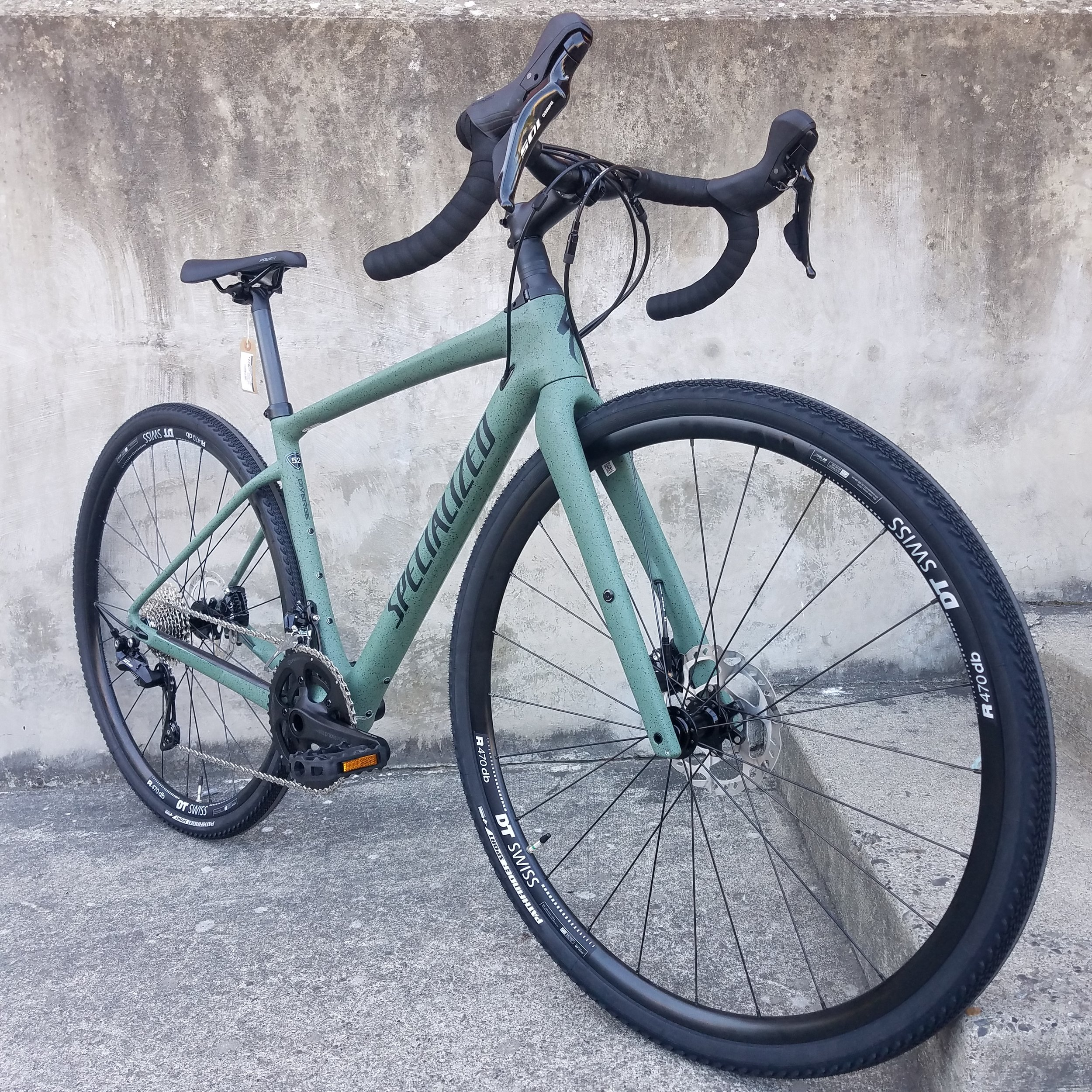 Specialized DIVERGE SPORT CARBON - $2,800Sage Green/BlackSizes Available: 52cmWe are happy to order you any size or model you need.