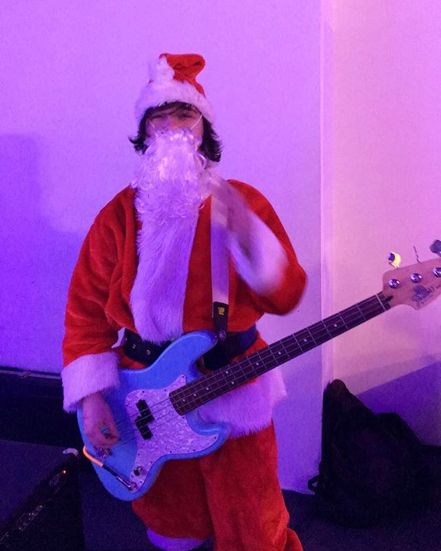 He's checking his list. #christmas #santa  #music #show #band #poppunk #punk #punkrock #newjersey #family #friends #phillymusic #philly #southjersey #localmusic #supportlocalmusic #localband #3tac