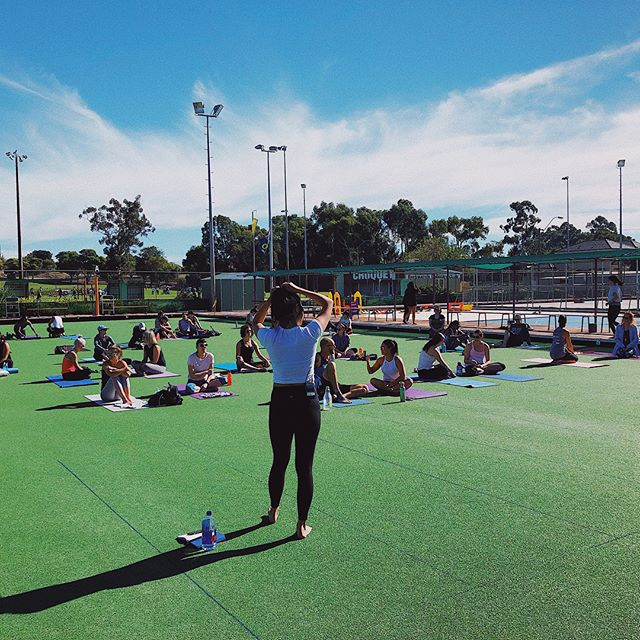 Who wishes it was still Sunday! The sun was shining, the tunes were vibinggg.  Thanks to everyone who came along ⚡️ we miss you already!  #electricrelaxation #hiphopyoga #perth