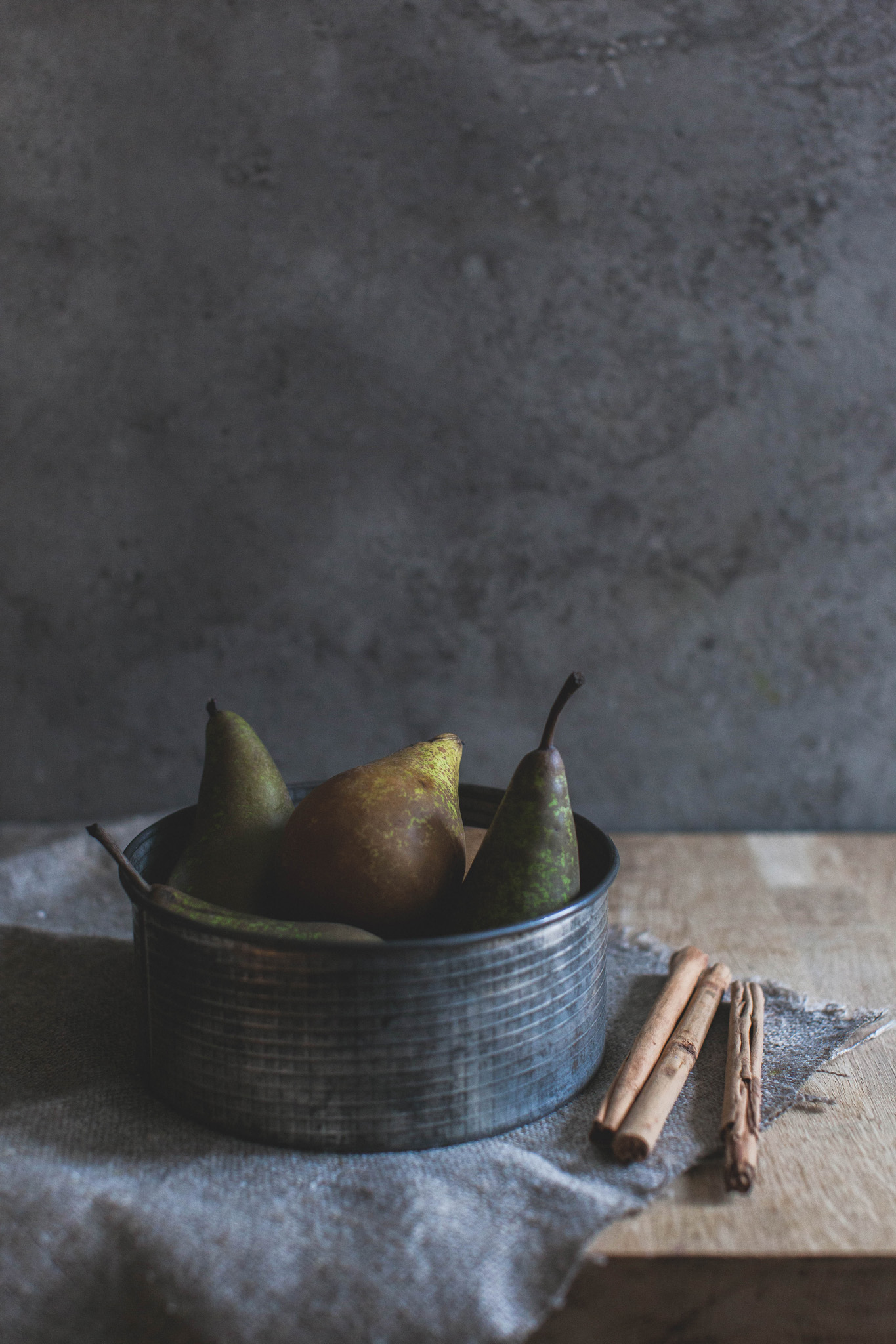 Winter spiced red wine poached pears photographed by Emma Gutteridge, recipe on retrEAT blog