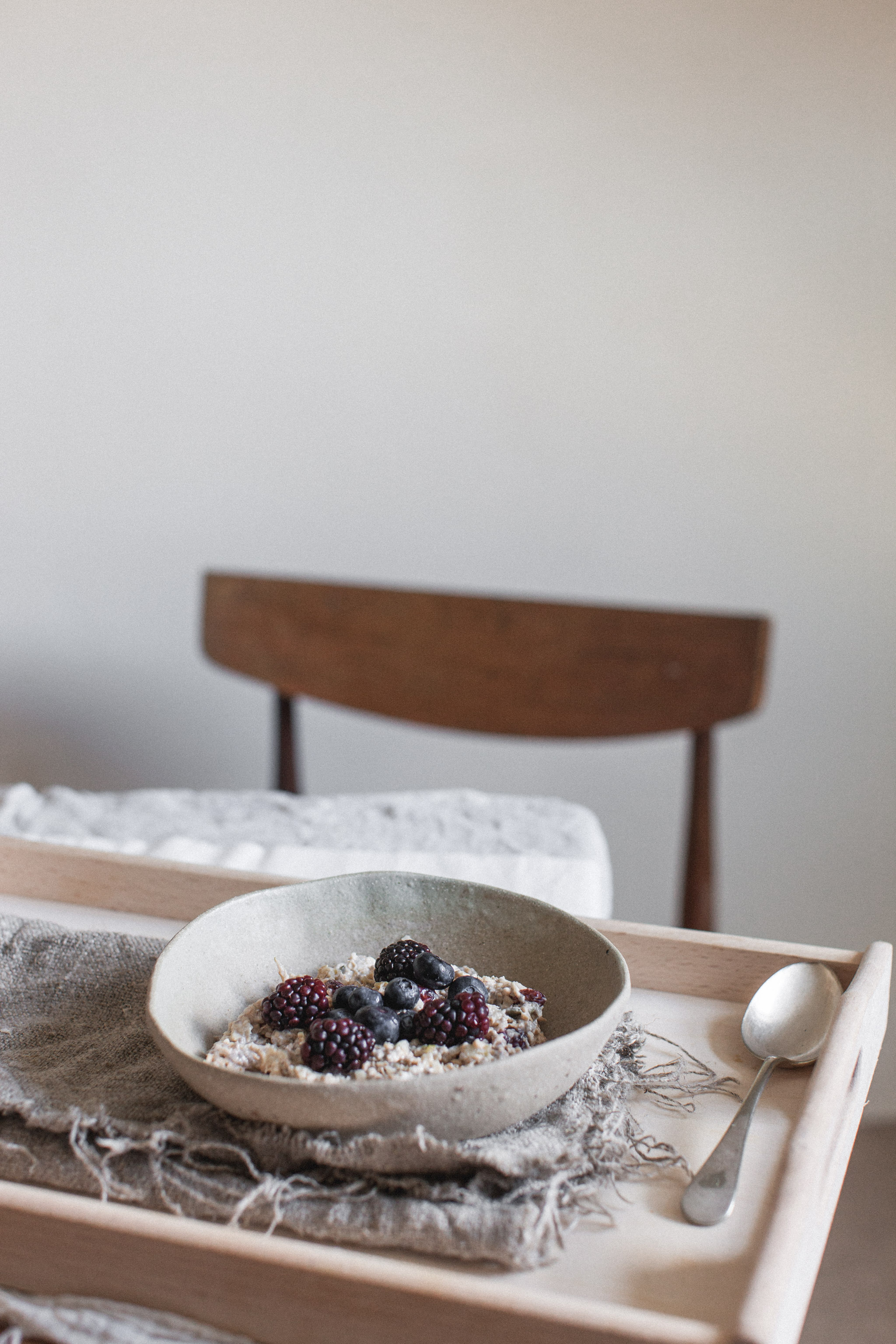 Easy bircher muesli recipe. Retreat // Food and lifestyle blog based in Sussex. Photography by Emma Gutteridge.