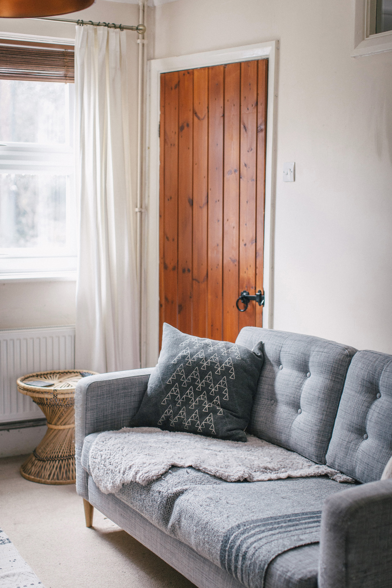 Ikea Karlstad hack with tufting and mid century legs. Retreat // Sussex food & lifestyle blog