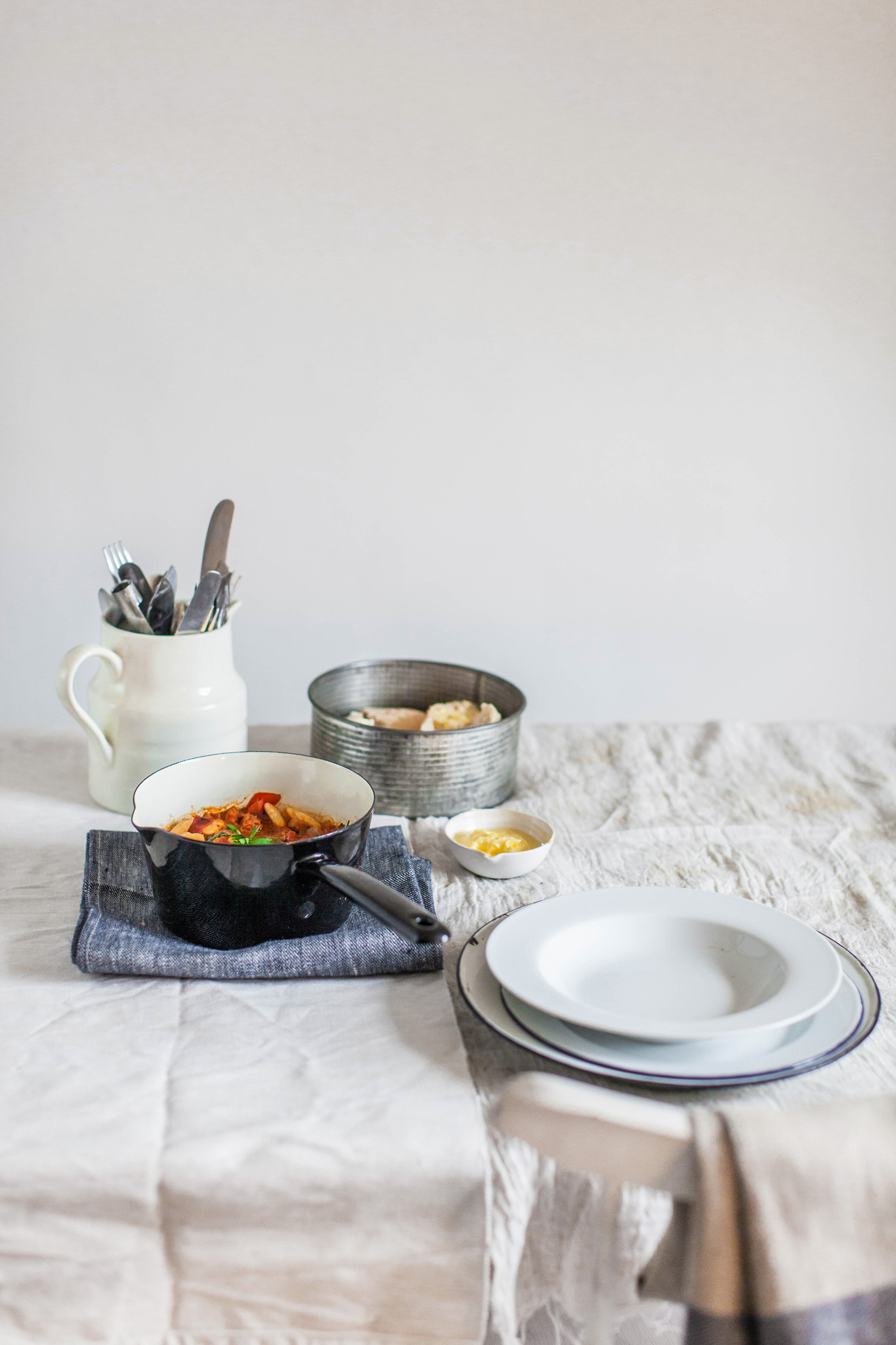 Chorizo and butterbean stew recipe. Retreat // Food and lifestyle blog based in Sussex. Food photography by Emma Gutteridge.