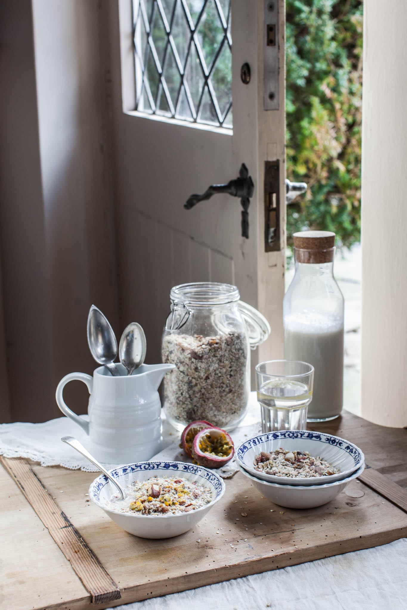 Home made gluten free super muesli recipe. Photography by Sussex photographer Emma Gutteridge