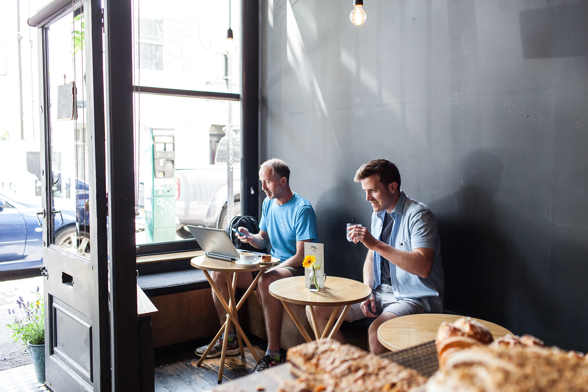 Stoney Point in Brighton is an example of a laptop friendly cafe with good work focus music.