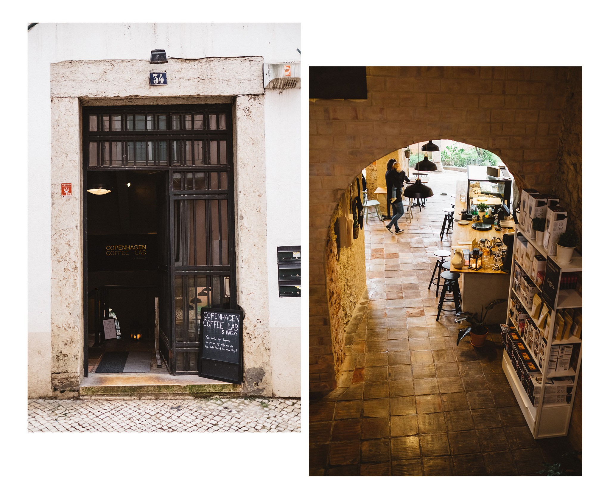 The Copenhagen Coffee Lab, a great coffee place in the Alfama district of Lisbon