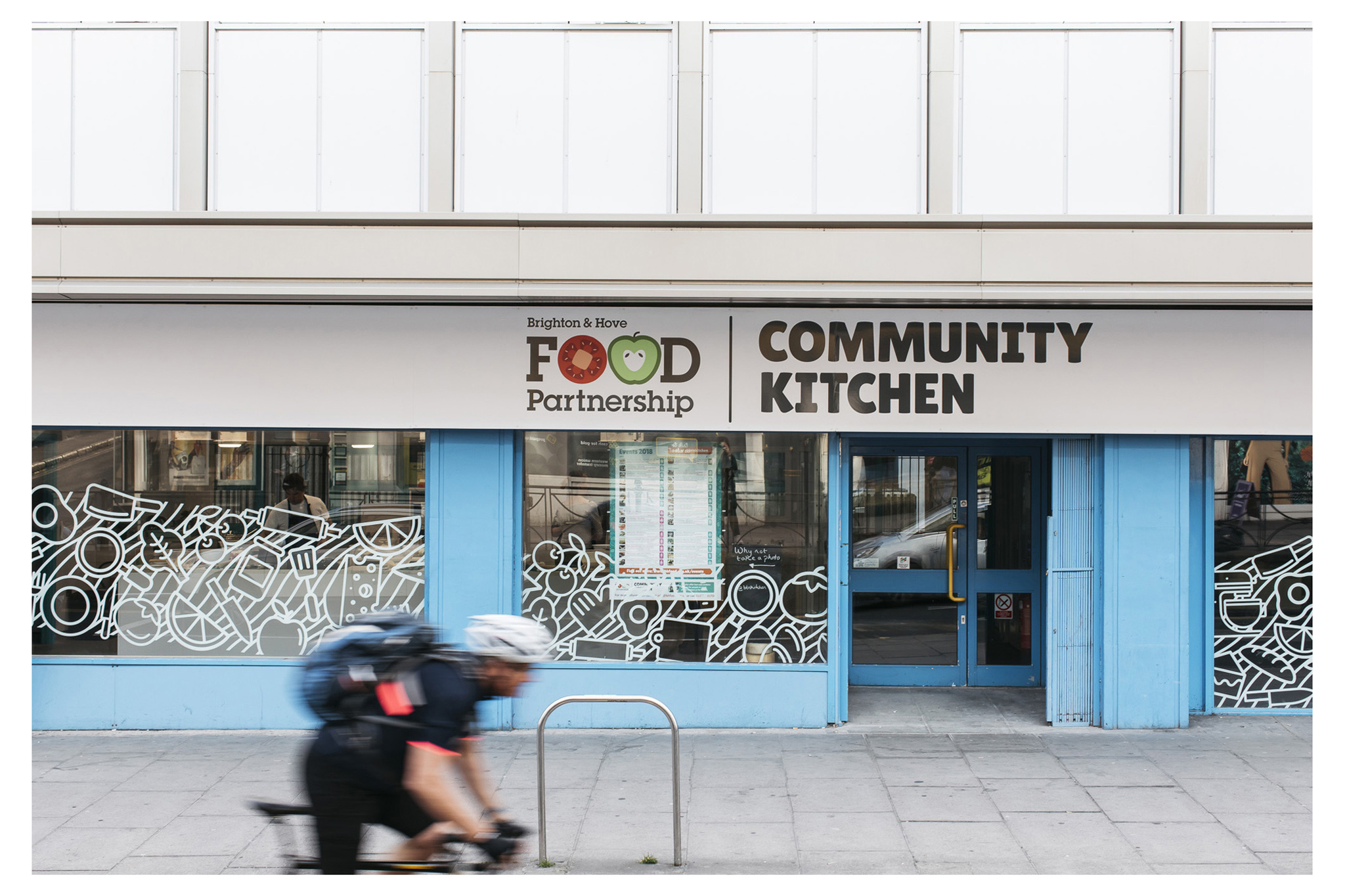 A new community kitchen for Brighton providing education for vulnerable that live in the city funded by classes held there and venue hire.
