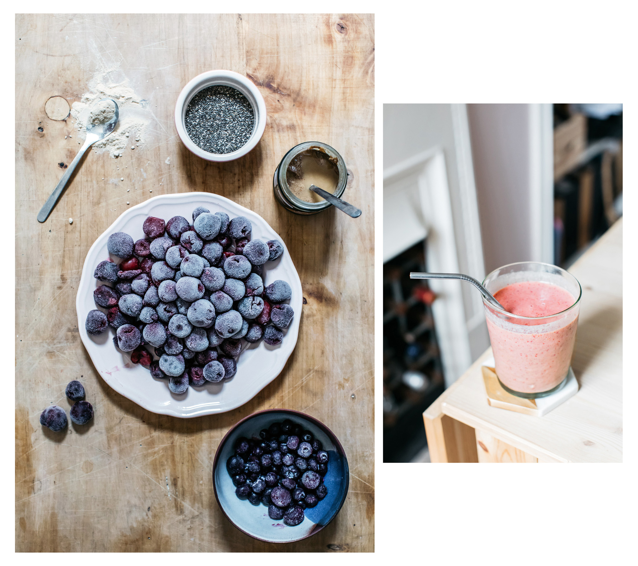 Cherries are full of nutrition and make a great breakfast smoothie that regulates blood sugar and provides dietary fibre. Recipe below.