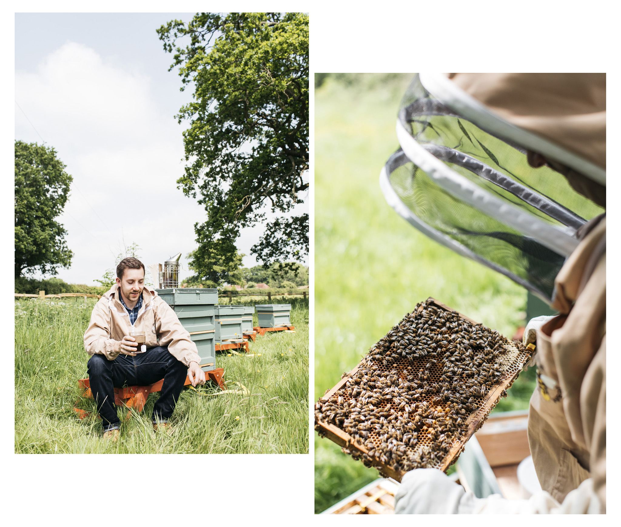 Adam Strawson is a beekeeper in Brighton and produces raw, unblended, local honey as well as selling quality honey from other small batch producers.