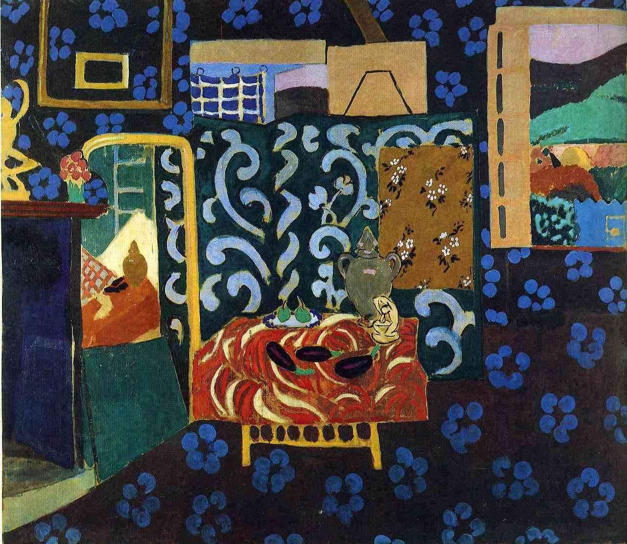 Henri Matisse  Still life with aubergines