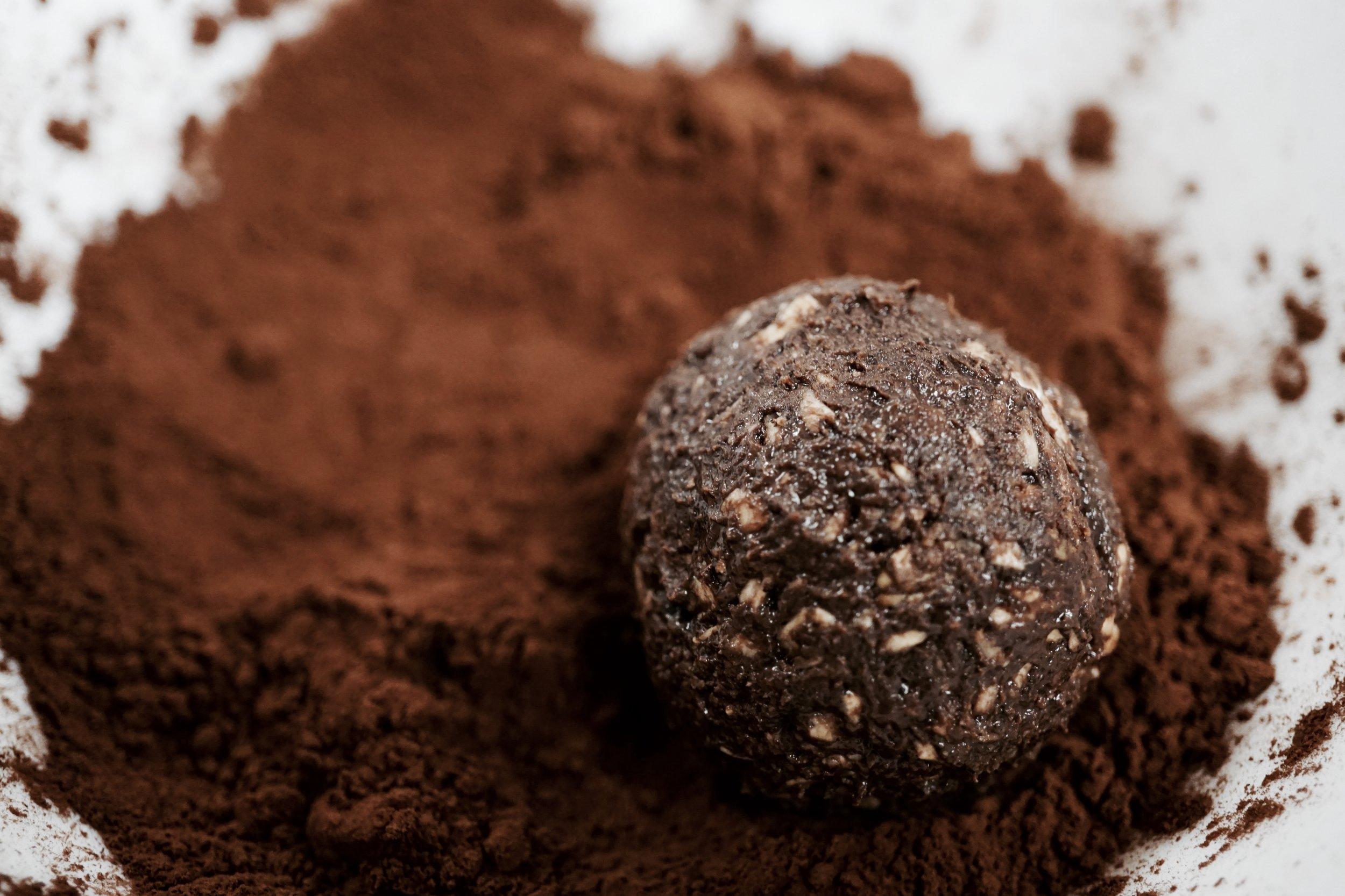 Cocoa powder and chokladbollar