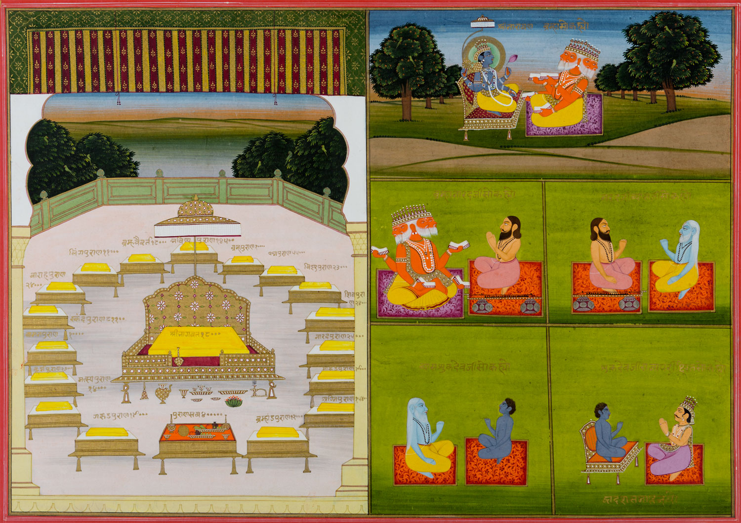 Bhagavata Purana,    Salig Ram    of Jaipur, c. 1800  Opaque watercolour and gold on paper; H. 25.5 cm, W. 36 cm  From the Pre-Modern Art collections at MAP