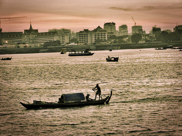 """On the Tonle Sap"", Phnom Penh, Cambodia; Photo credit:  Rajeev Rajagopalan  (2014), CC BY 2.0"