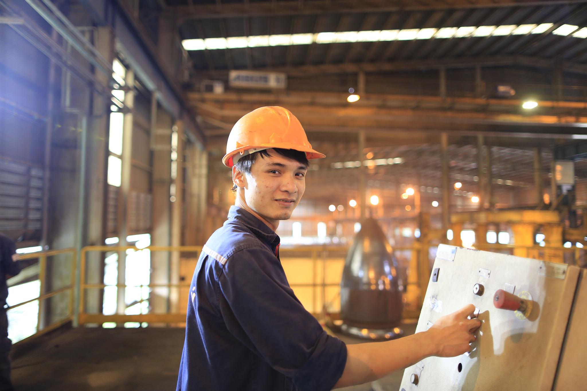 Steel factory in Hung Yen