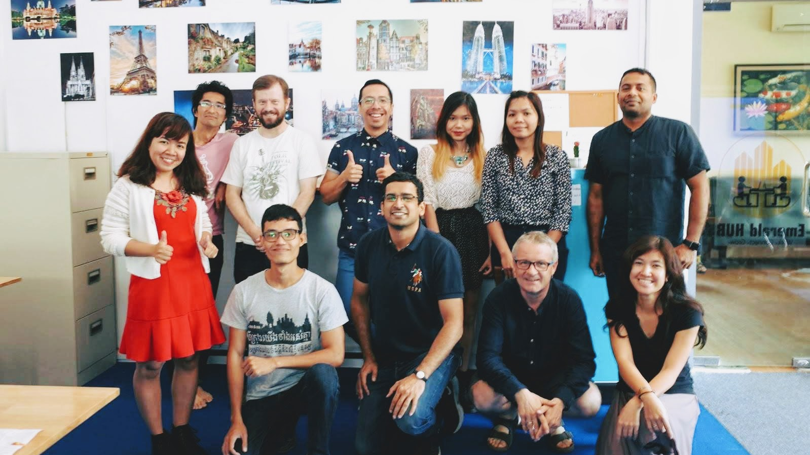 #IdeasCamp speakers and participants pose for a picture at Emerald Hub BKK3.