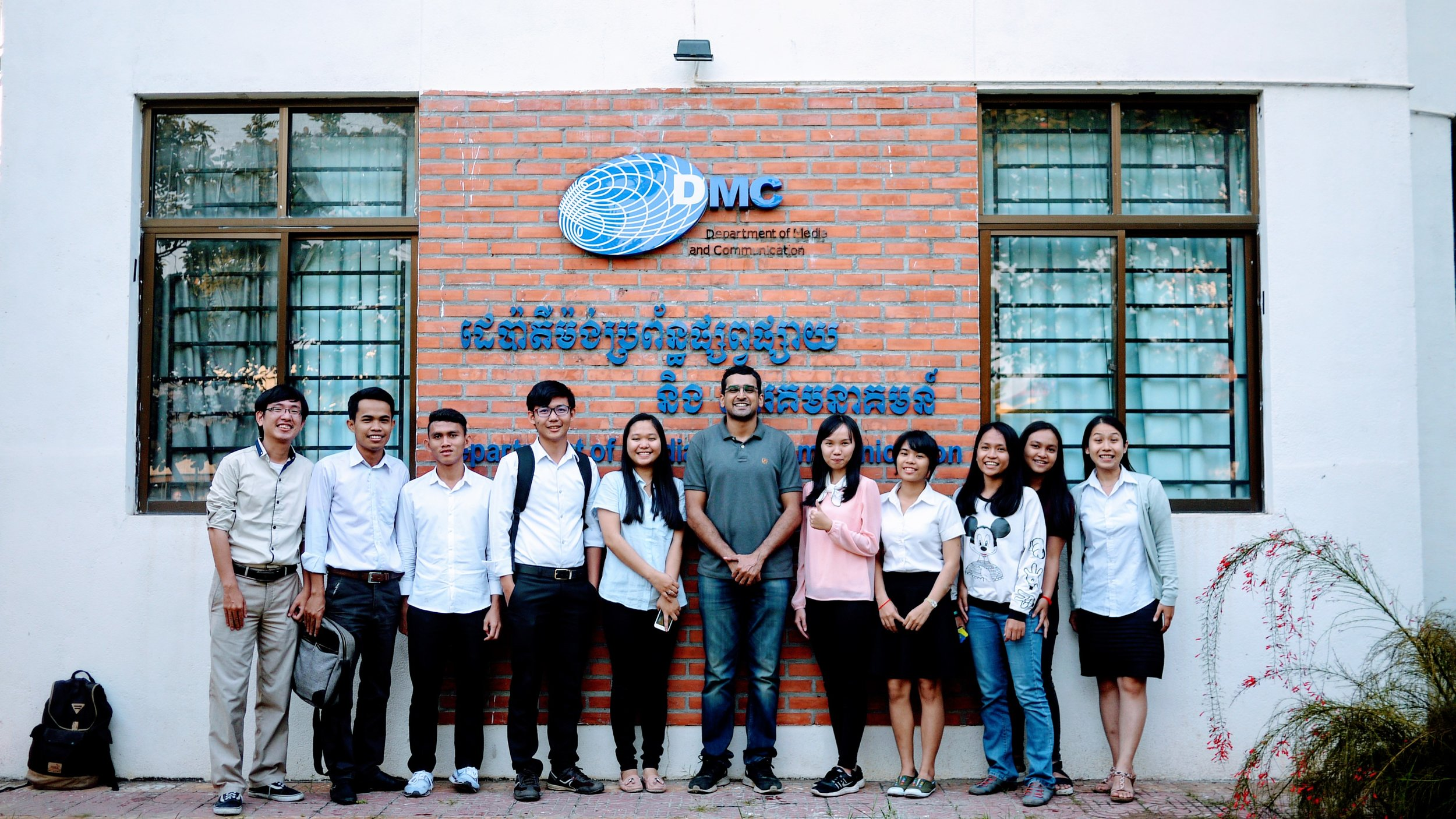 Wikipedia Workshop group picture at Department of Media and Communication, Royal University of Phnom Penh on Thursday, 11 January 2018.