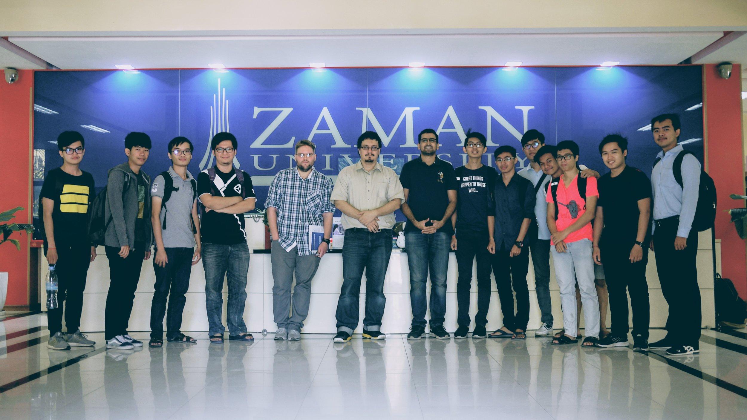Wikipedia Workshop group picture at Zaman University on Friday, 12 January 2018.