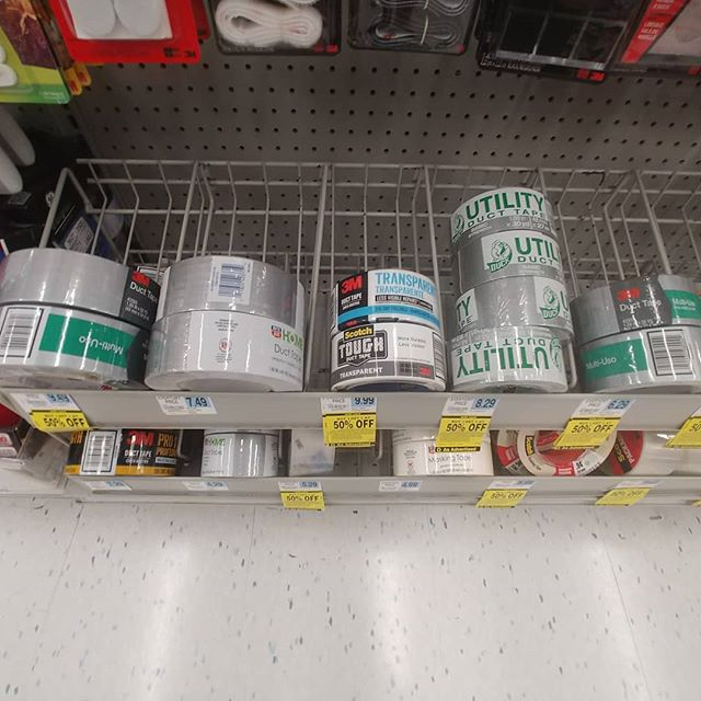 ...when you stroll into rite aid and have to snap a pic of the selection to send to your sub. #tapegag #ducttape #kinky