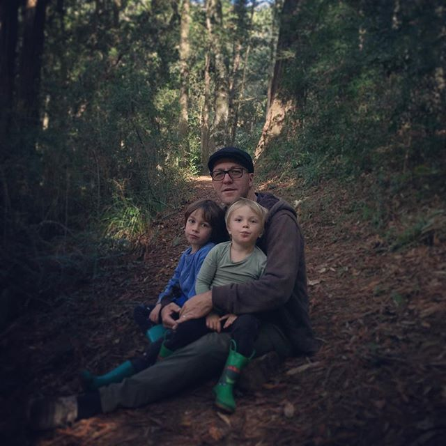 The 3 people I love most . . #family #hikingadventures #familyroadtrip #forest