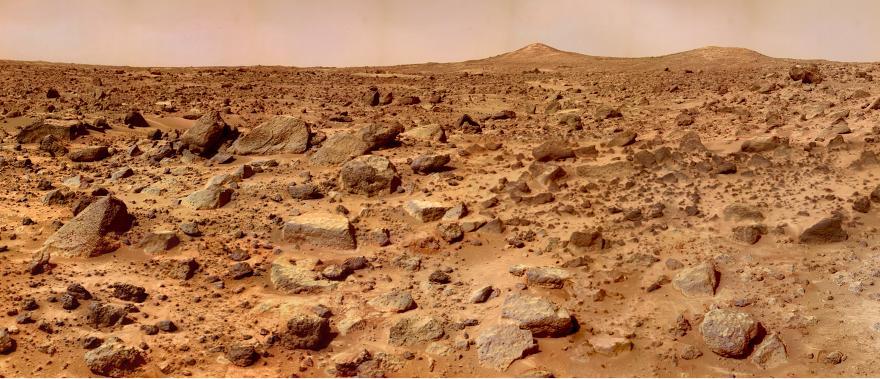 Martian surface captured by Pathfinder. Image credit: NASA, JPL