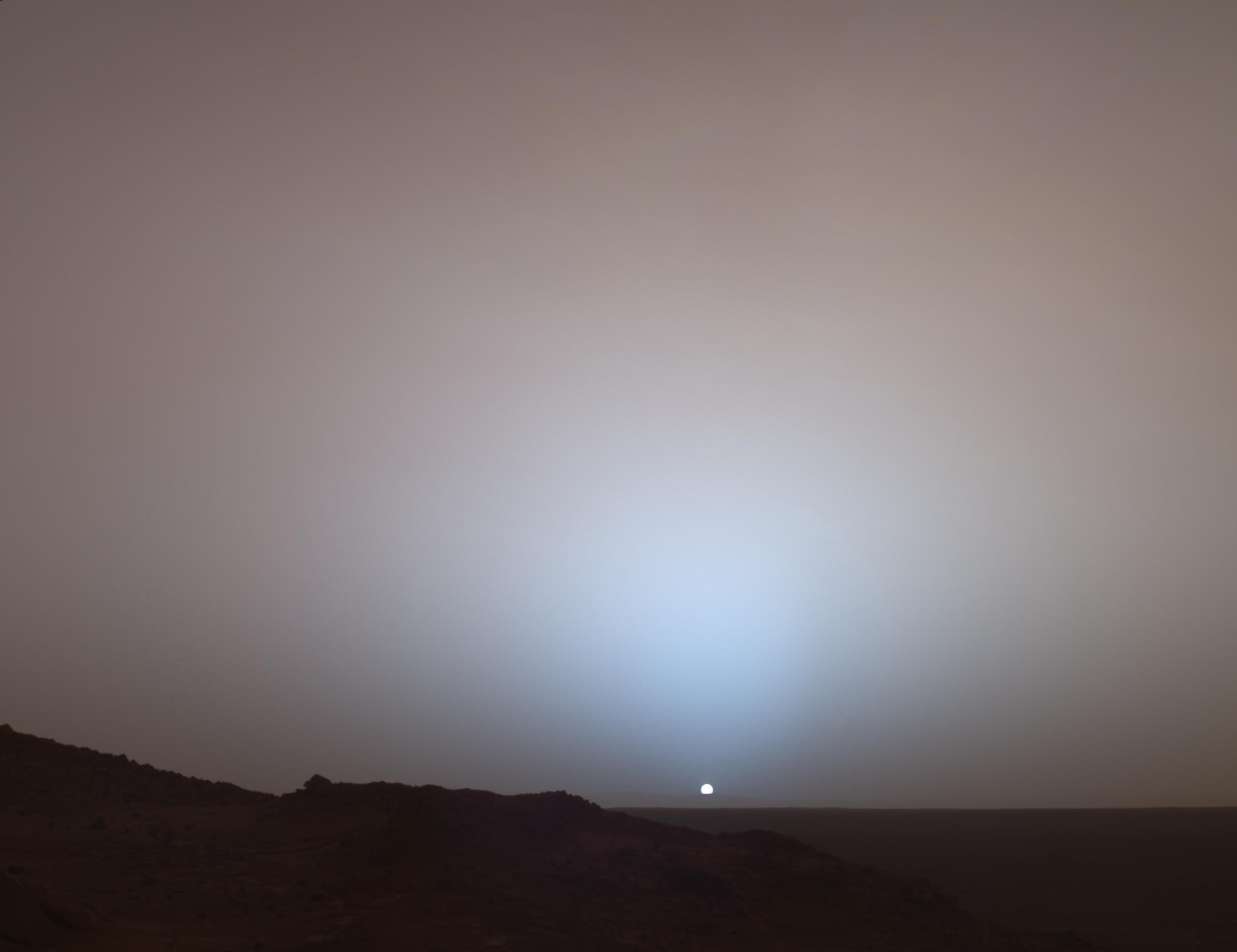Sunset on Mars. Image credit: NASA/JPL/Texas A&M/Cornell