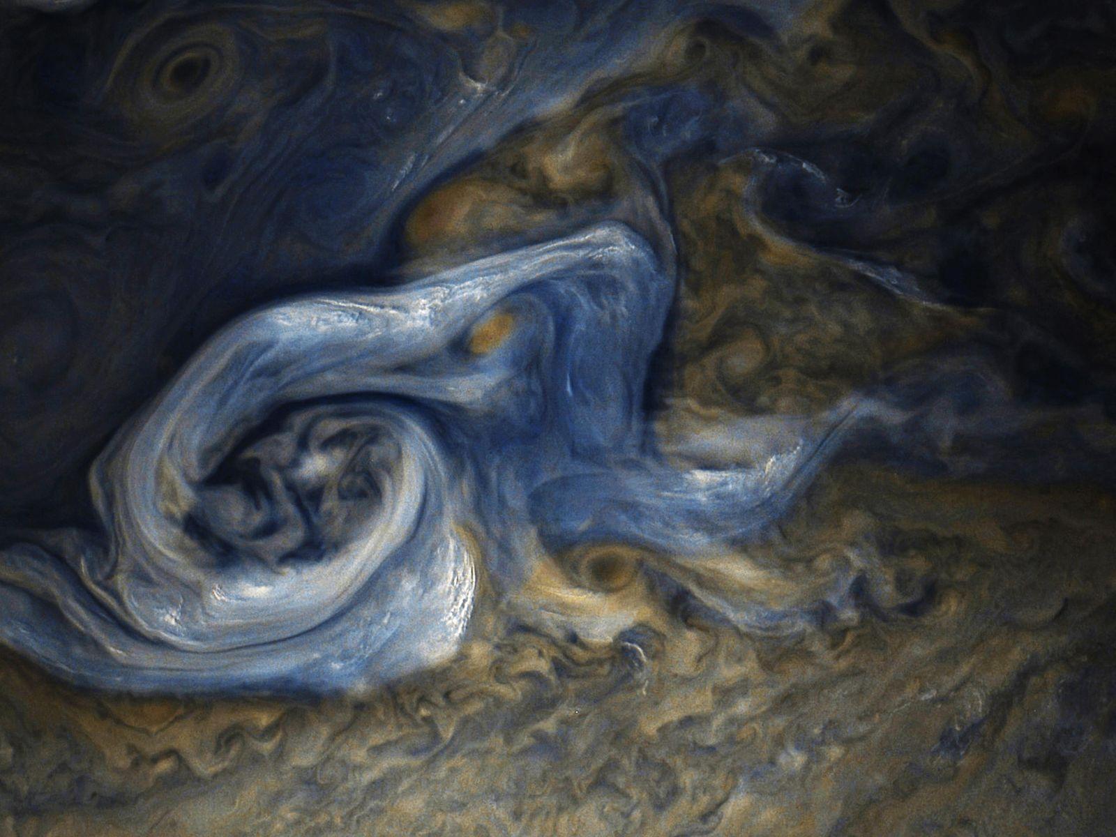 Jovian Tempest. Image credit: NASA/JPL/Caltech SwRI/MSSS