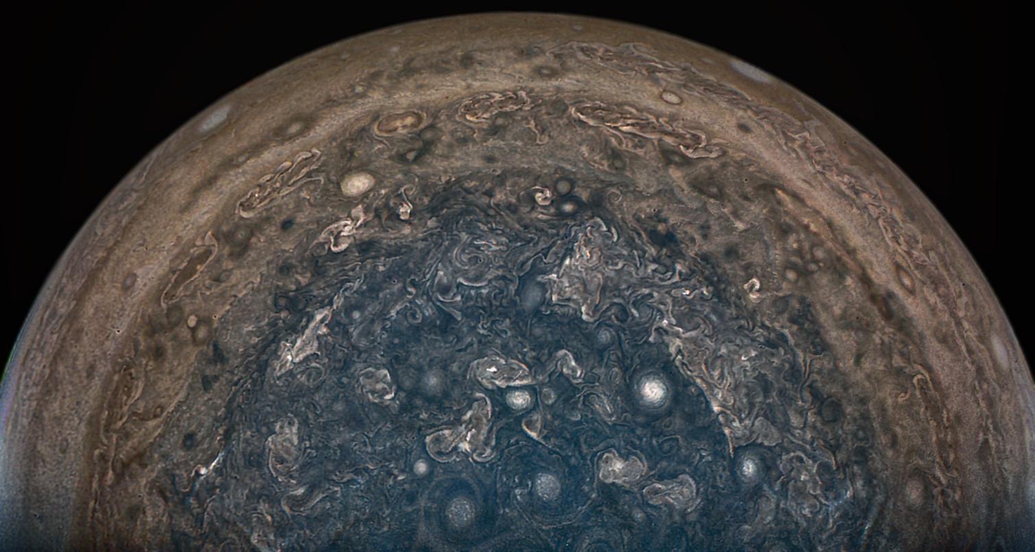 Stormy weather. Image credit: NASA/JPL/Caltech  SwRI/MSSS/John Landino
