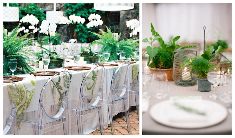 from left to right, images via  Martha Stewart Wedding  and  Brides