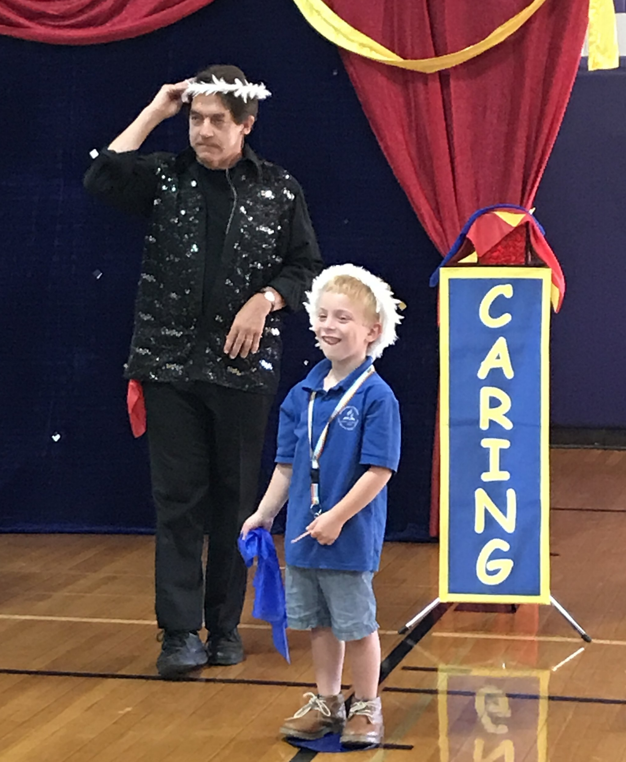 Our elementary students enjoyed a magic show by Jim Vagias demonstrating respect, responsibility and caring for their antibullying assembly.