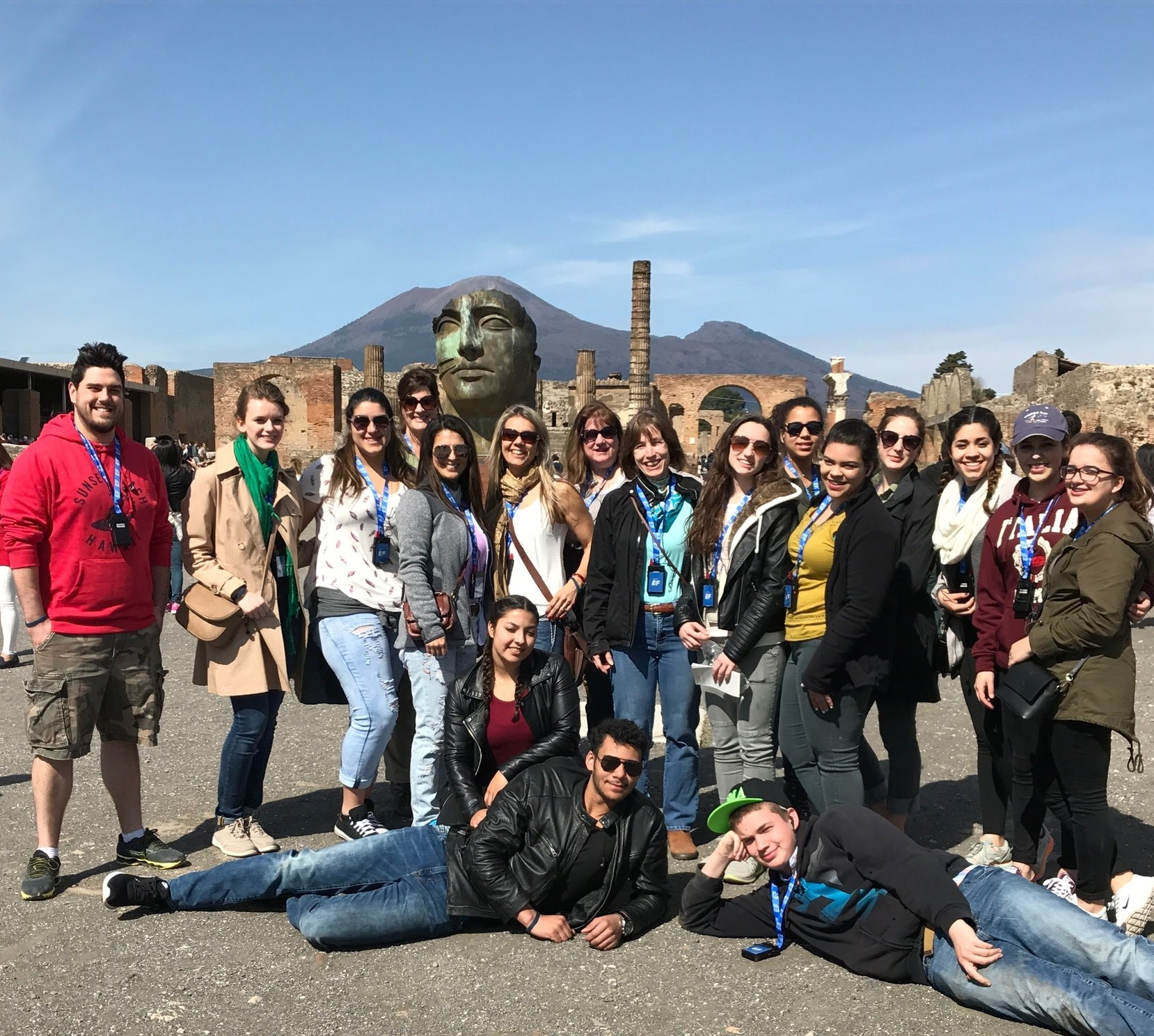 South Lancaster Academy students visiting the ruins of Pompeii as part of their Mediterranean study tour in the spring of 2017