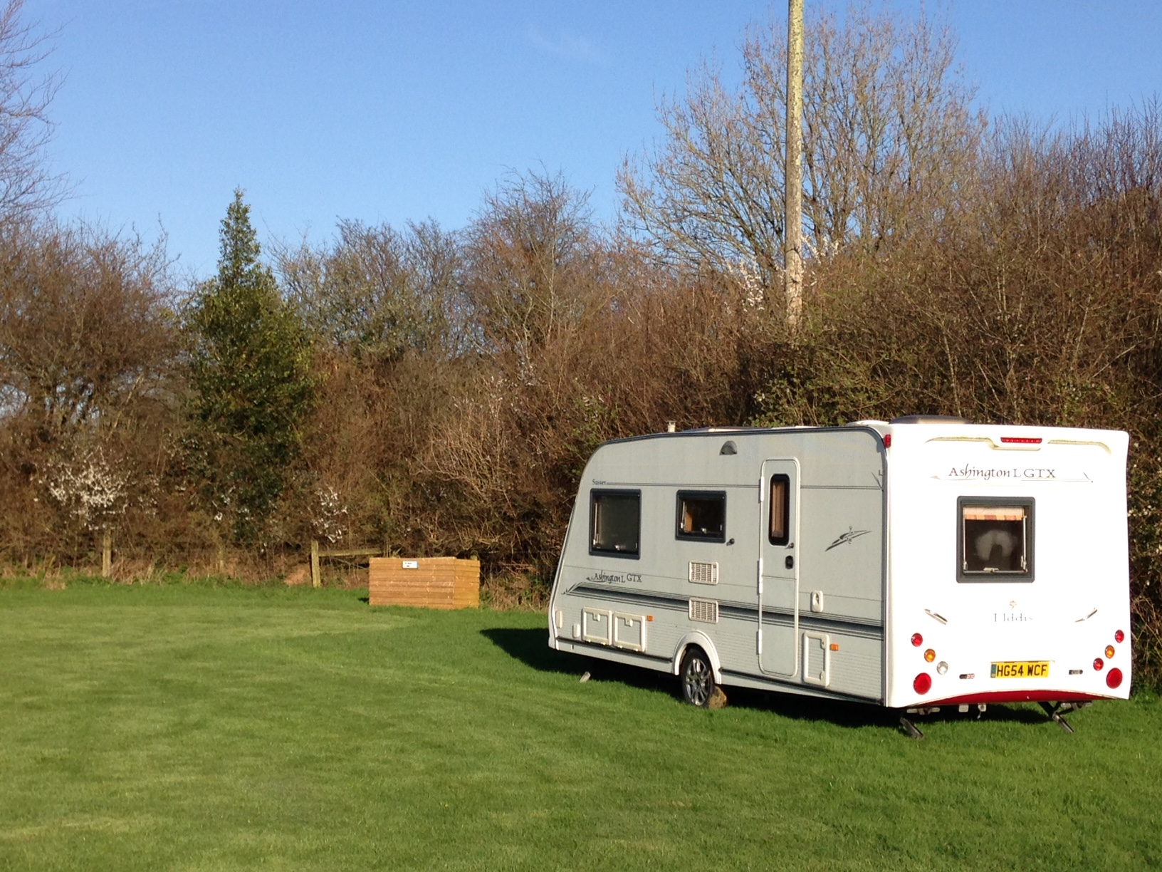 Large Pitch - Caravans, motorhomes, trailer tents and family sized tents, 4 persons included. There will be a small charge for additional adults/children. A large pitch is available at £12.00 per night. Electric hook up available for extra £3 per night