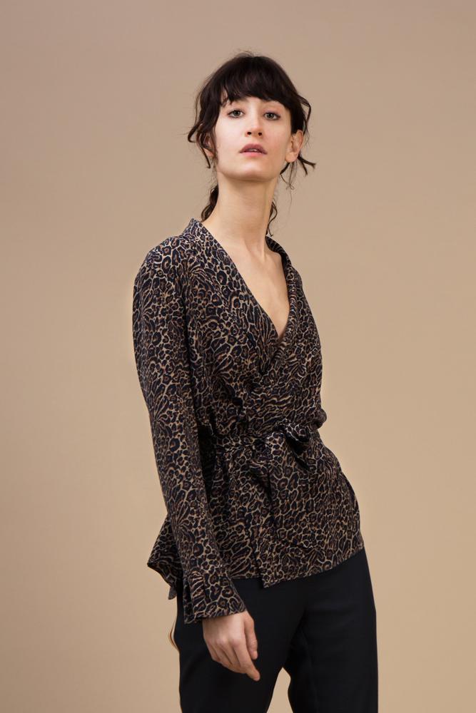 Crepe silk Kimono — Wild Cat