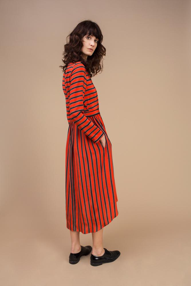 Crepe silk long and asymmetric dress — Rock Candy