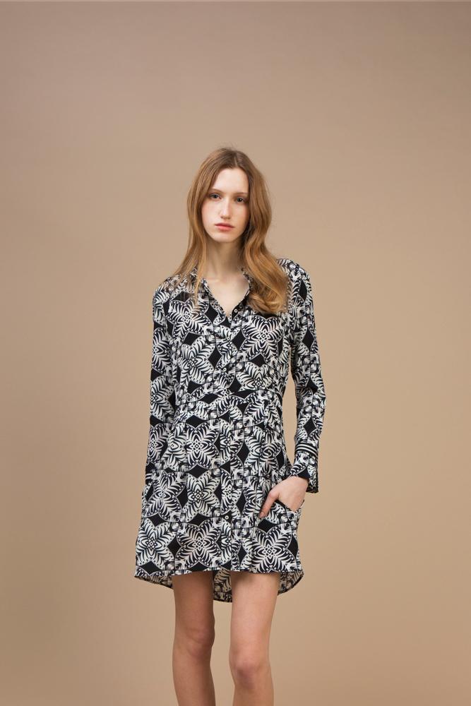 Crepe silk Short and asymmetric dress — Kaleidoscope