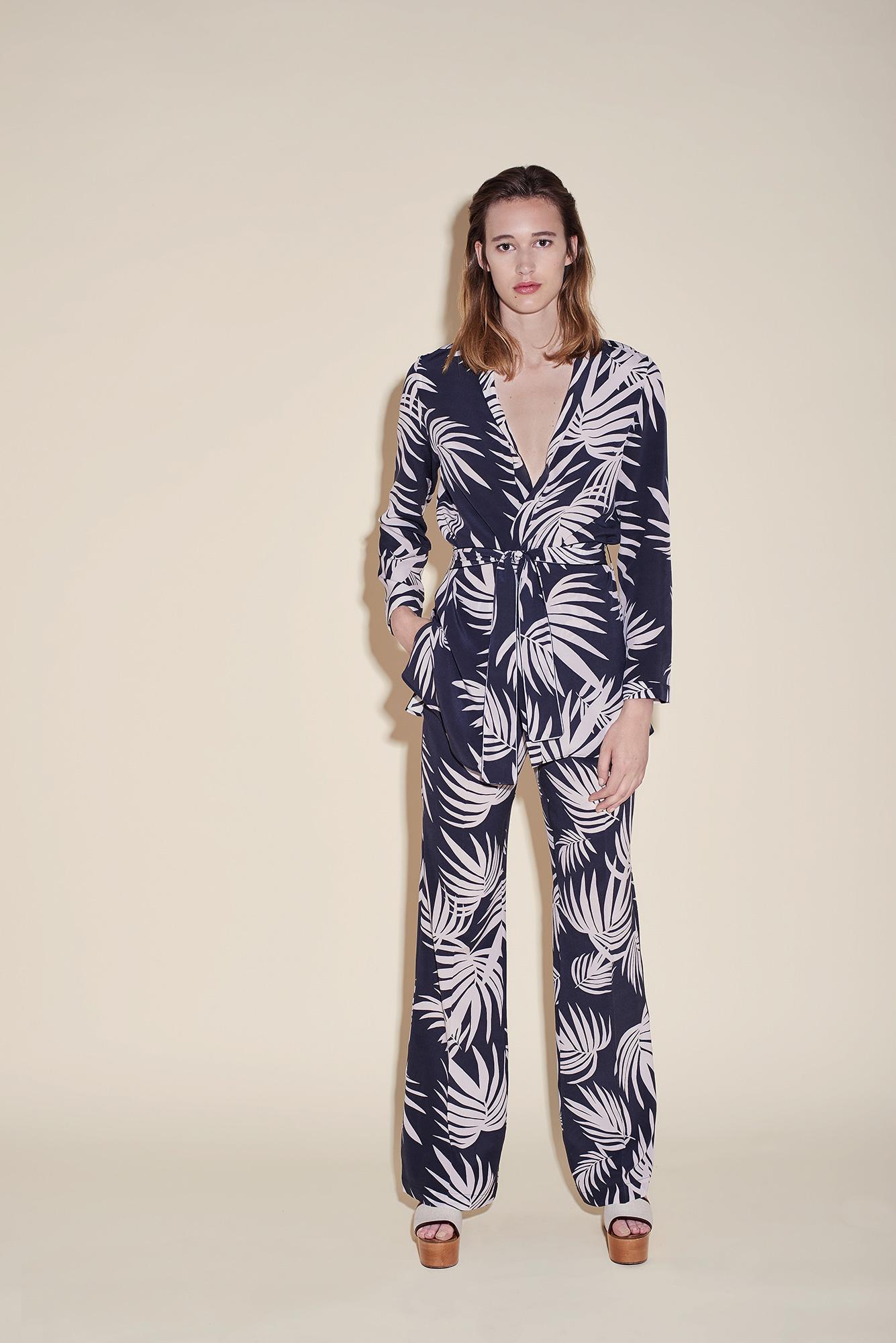 Kimono crepe silk tropical black – Large pant crepe silk tropical black