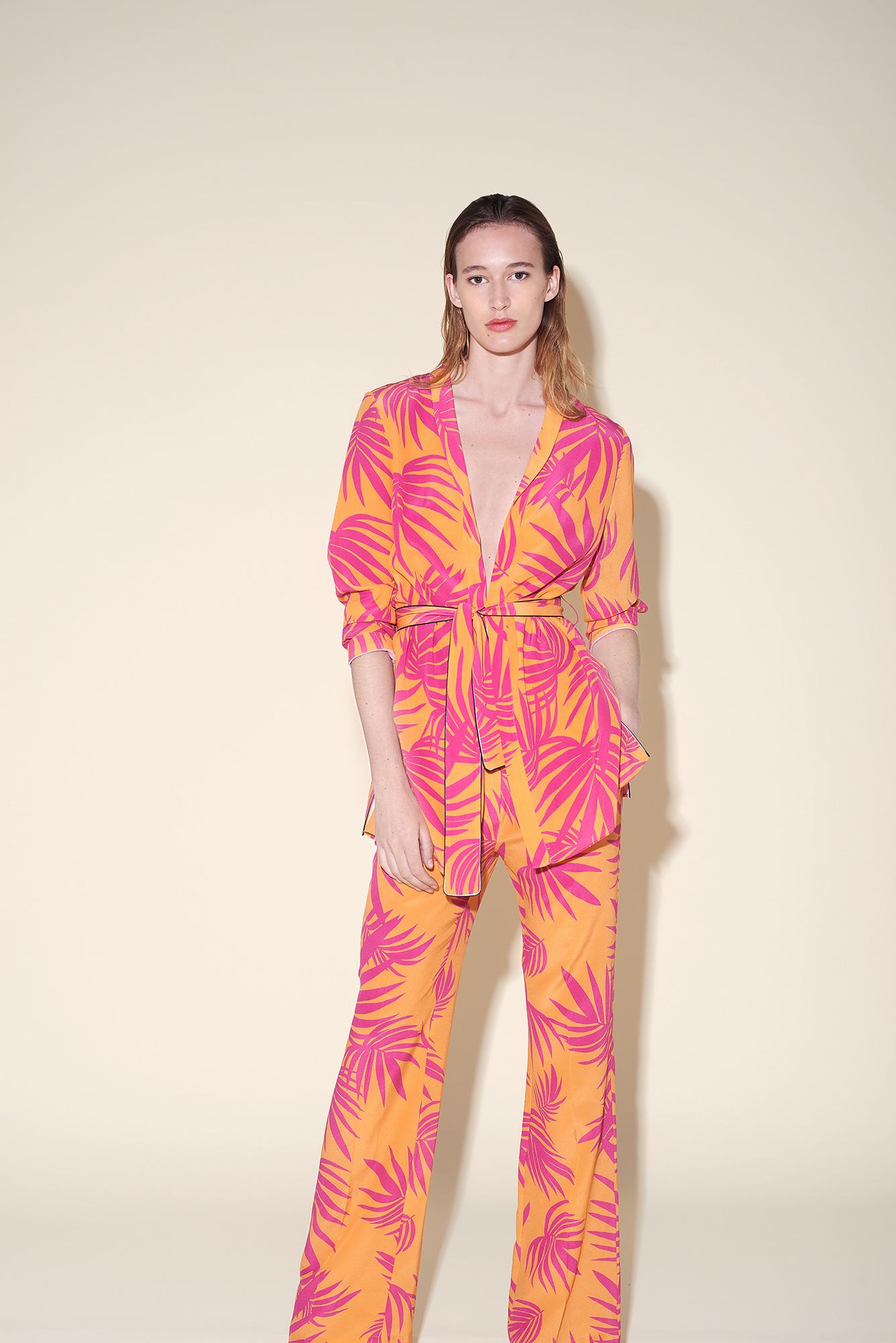 Kimono silk crepe tropical fushia – Large pant silk crepe tropical fushia