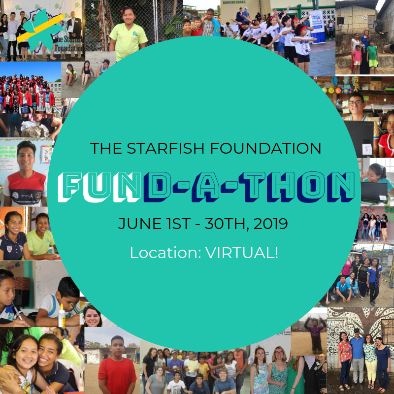 Are you a fan of Starfish who wants to take your commitment further?  Join us in  our first-ever Starfish Fund-A-Thon for the month of June , to raise funds for and awareness of Starfish!  We'll provide you all of the resources: stories, photos, statistics, information on how to set up a fundraiser on Facebook, how to reach out to friends and family, etc.  As an incentive:  There will be prizes  for fund-a-thon participants who have the most new donors, the most total money raised, and the most inquiries about how they can get more involved in the future.  Most importantly:  The more people that hear about Starfish, the more people will be moved to support our amazing scholars!