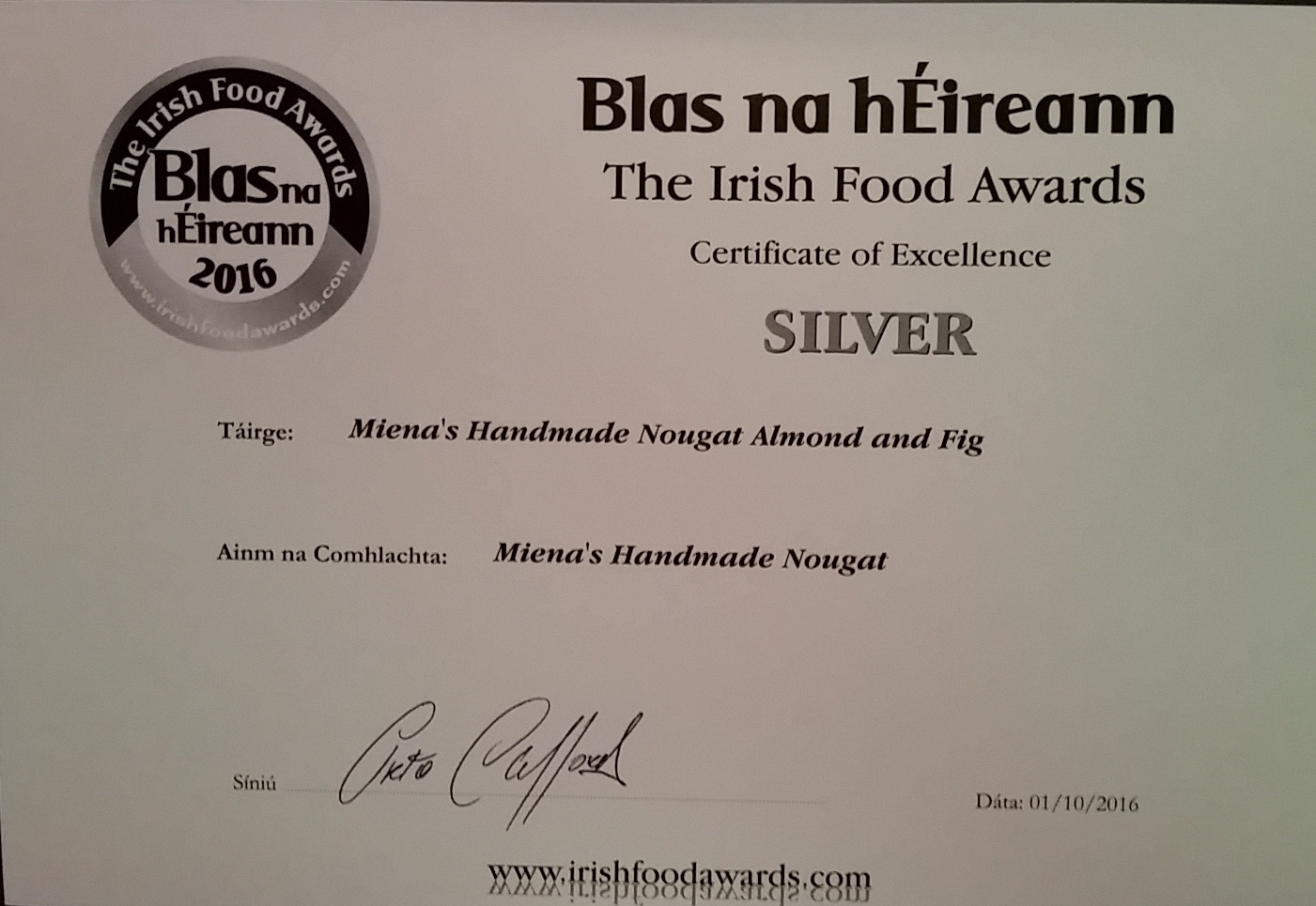 And look who got another Award!! - Almond and Fig again!!