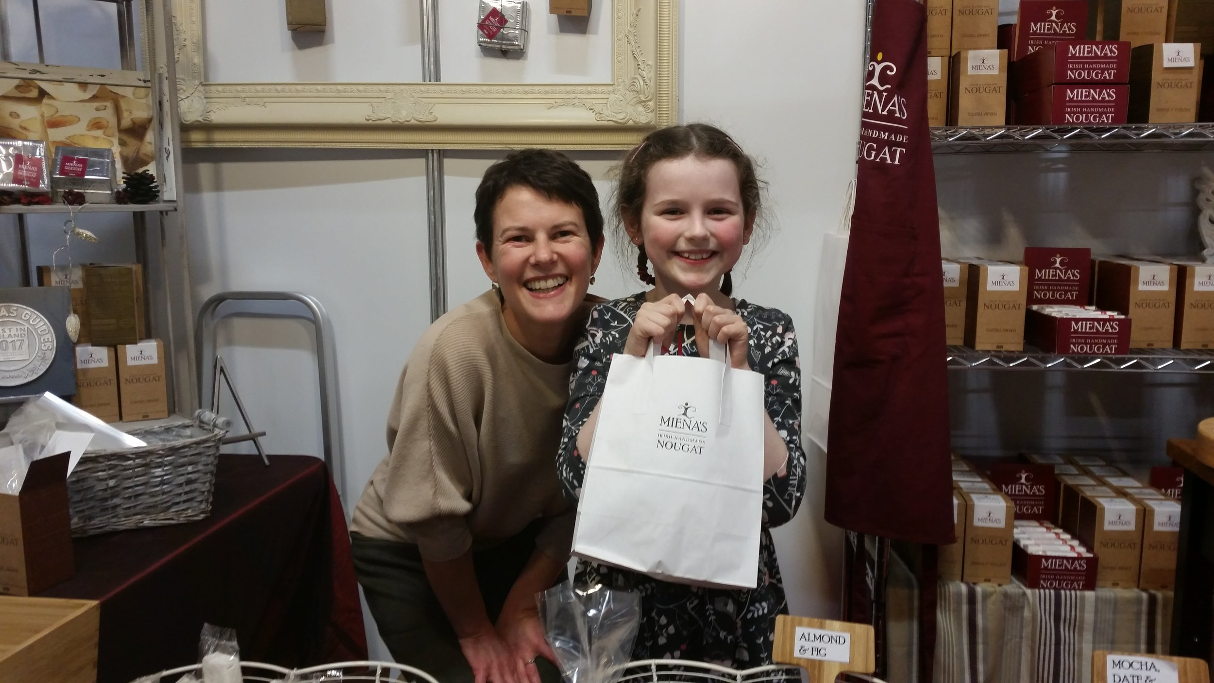 2016 ended on a high again at the Christmas Craft Fair.  Photo of me and a big Nougat Fan!!