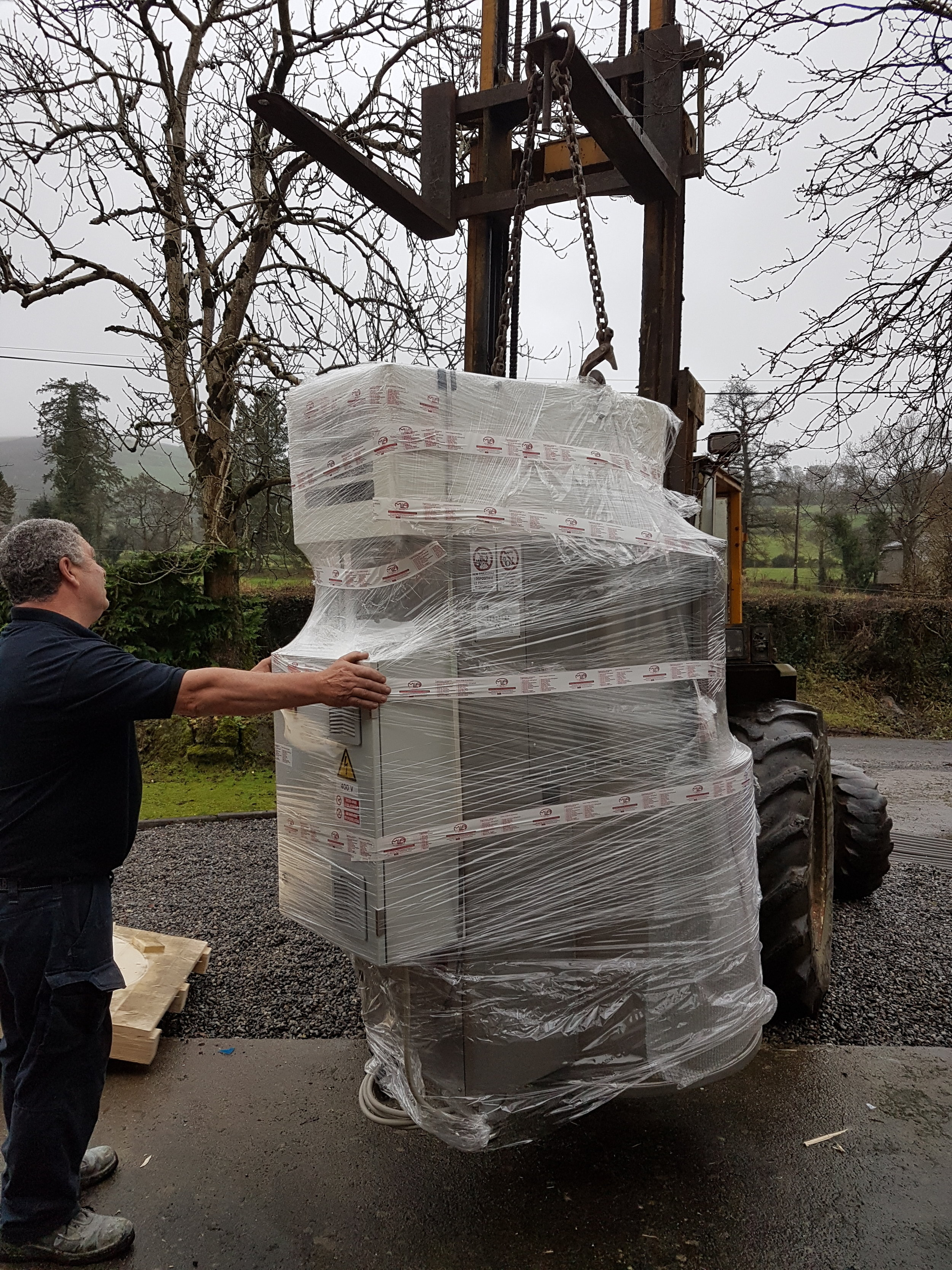 And seven months later it arrived!! Our new cooker. Now we can make nougat for the nation!! Thank you Wicklow LEO for all your help and support. Thanks Joe, Peter and my darling Jeanne, if it wasn't for you it would still be outside!