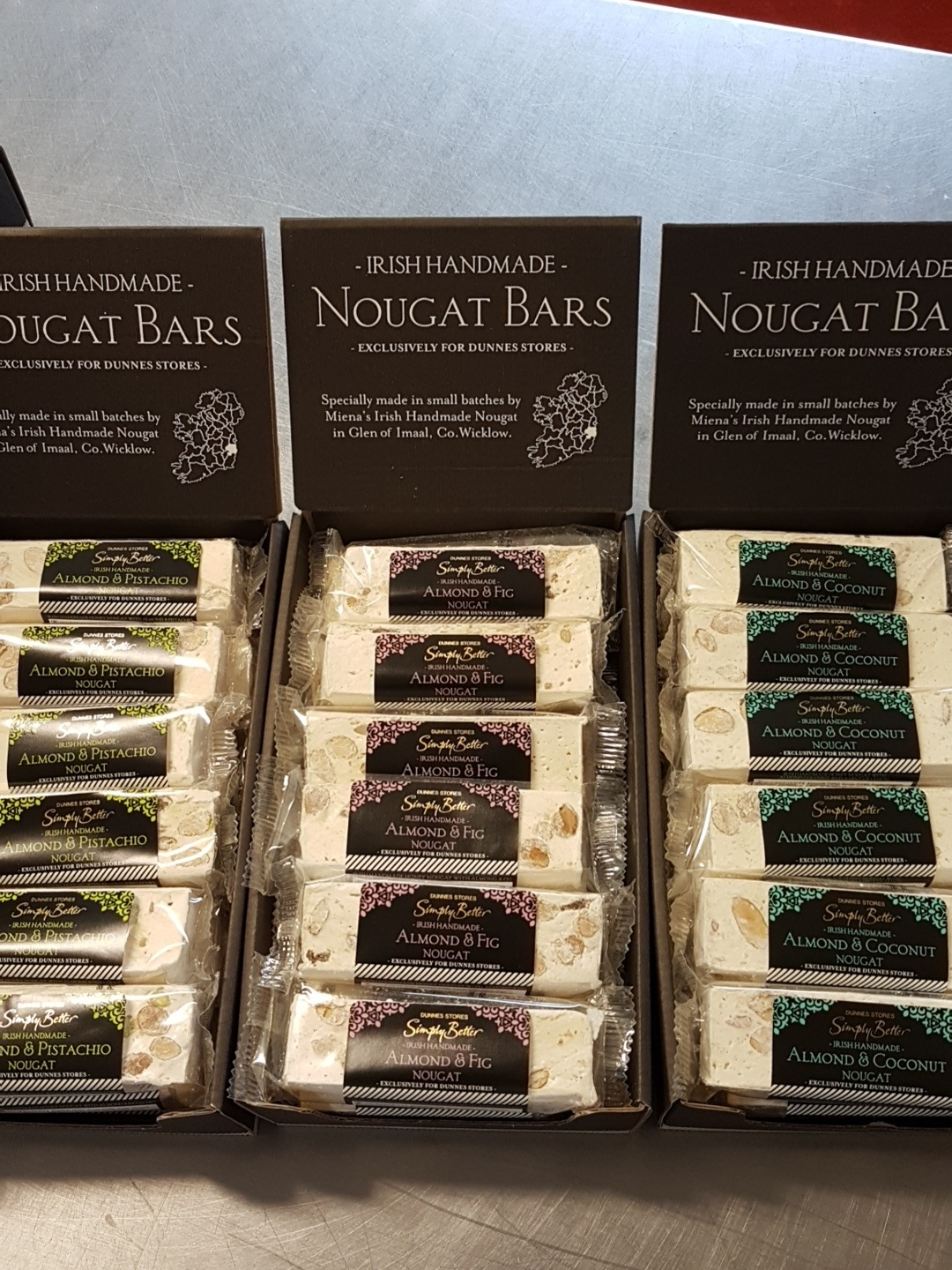 We started to make nougat for the Dunnes  Simply Better  brand... Yipee!!!