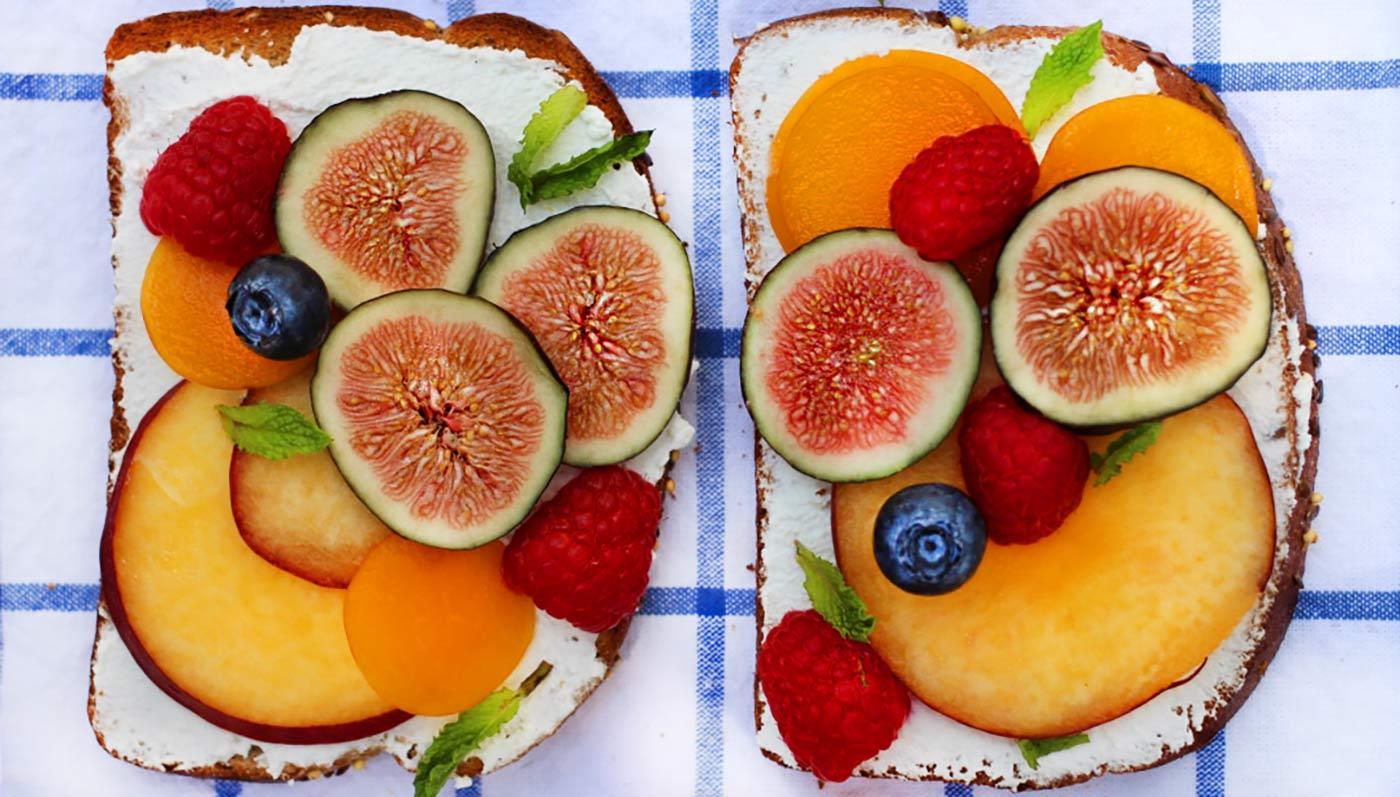 Summer Fruit Ricotta Toast