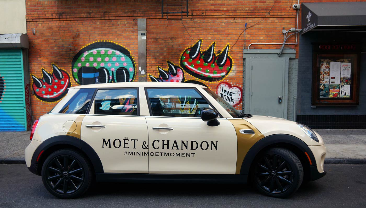 Catch The Traveling Mini Fête Filled With Moët!