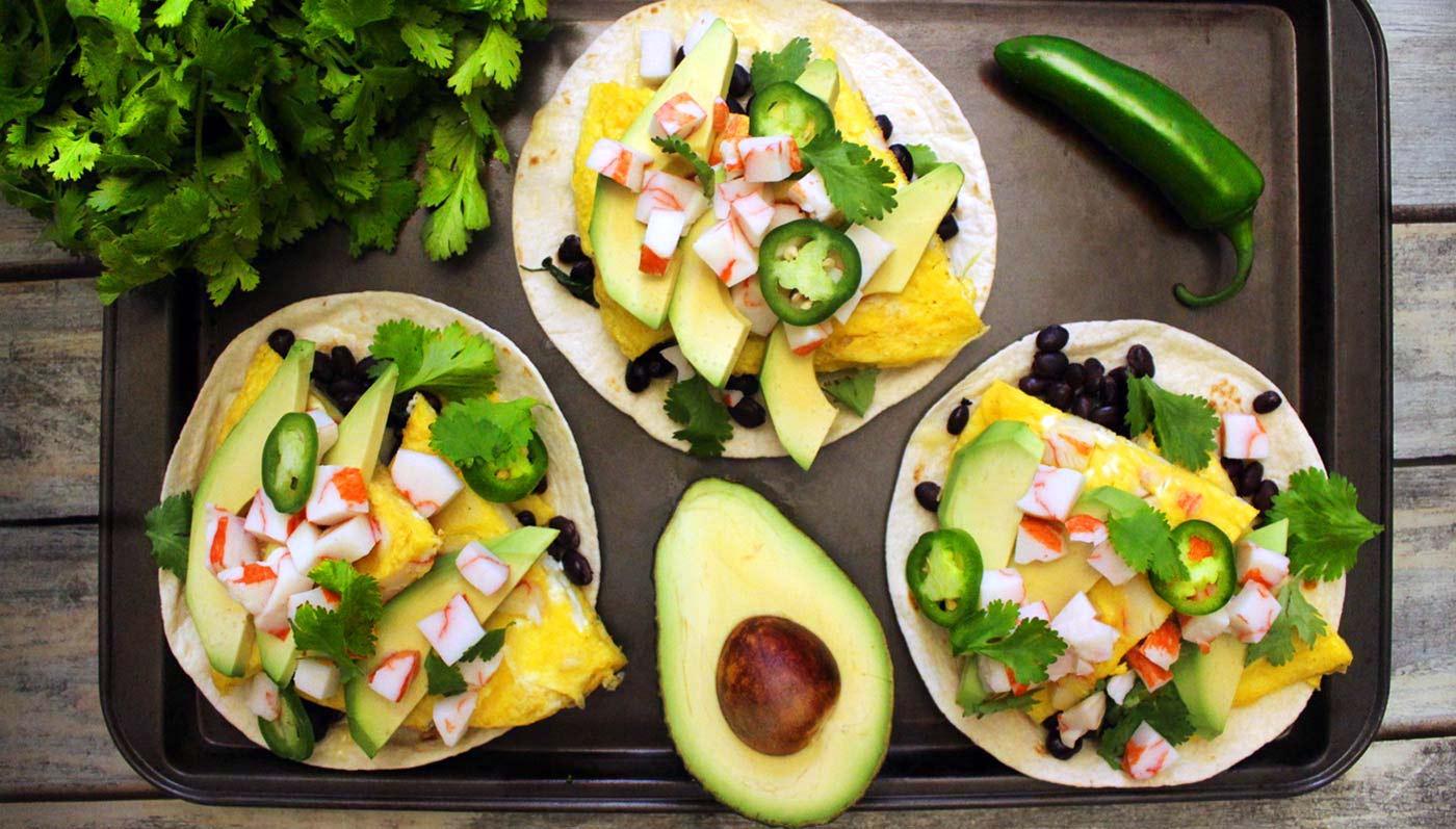 Crabby Breakfast Tacos