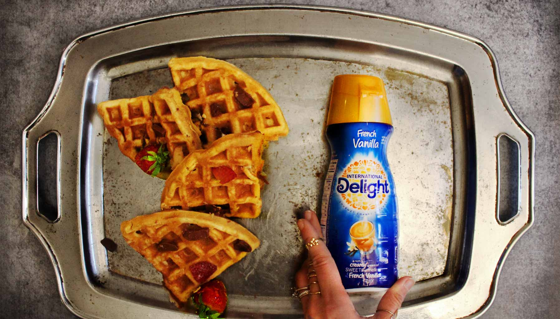 Tri-Chocolate Waffles With Delight-ful Syrup