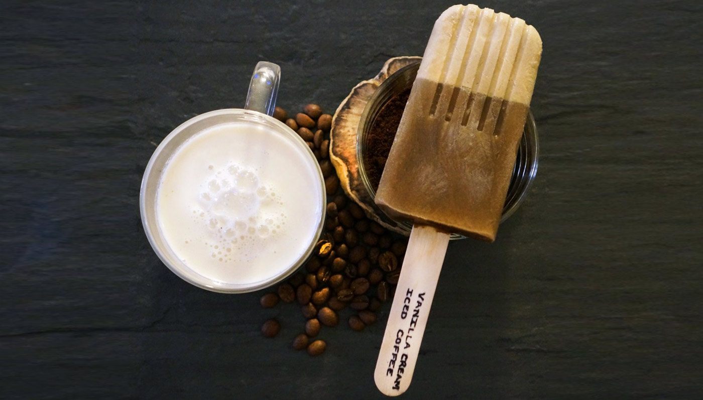 Coffee And Vanilla Cream Popsicles