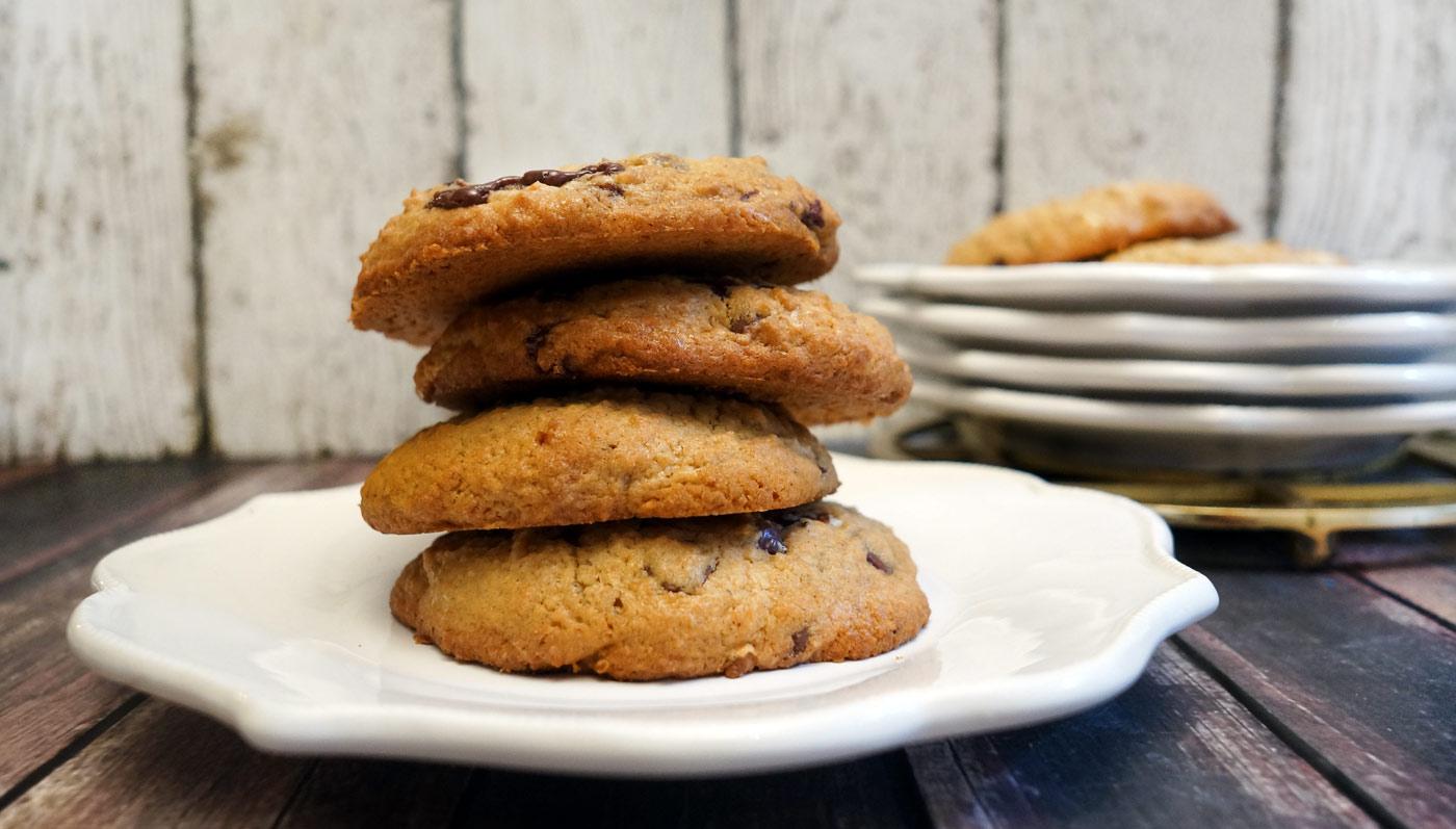 Chocolate And Cheesecake Stuffed Chocolate Chip Cookies