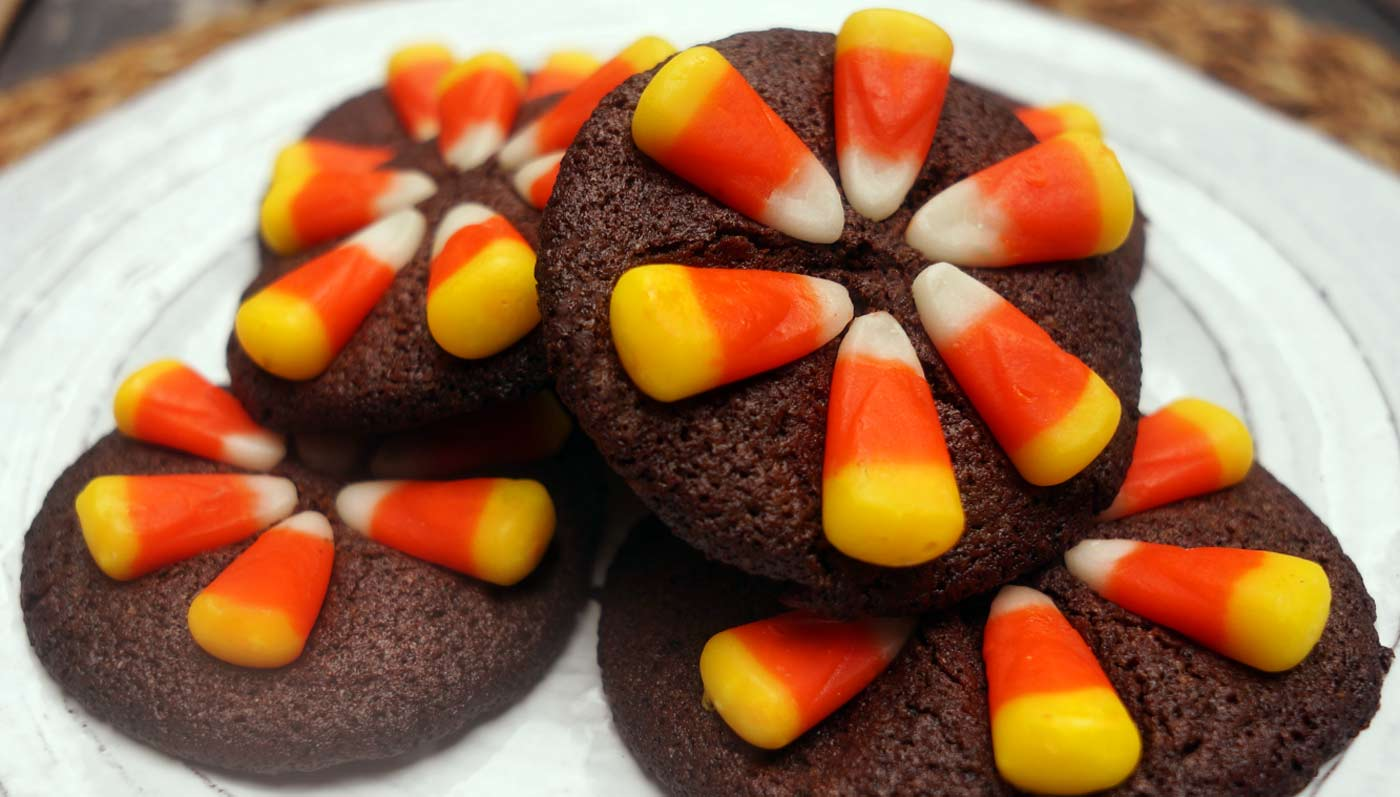 Candy Corn Chocolate Cookies