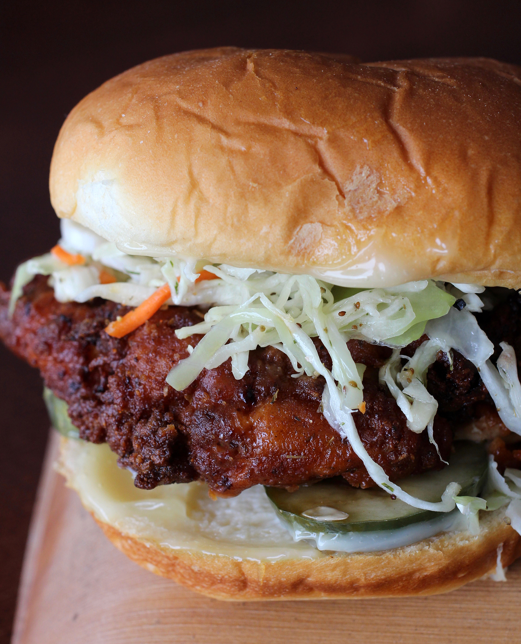 The Fat Rooster Hot Chicken Sandwich